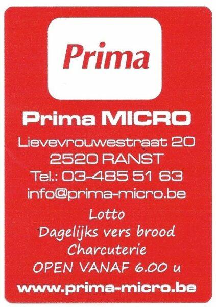 Prima Micro Ranst